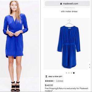 💙 Madewell Silk Index Dress 💙